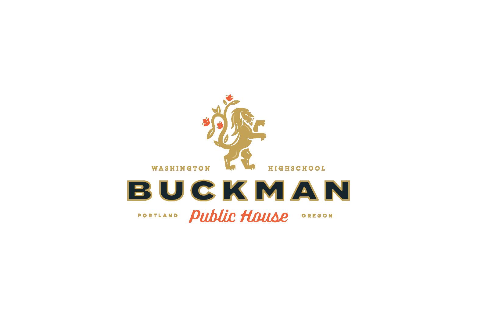 Buckman Public House logo design
