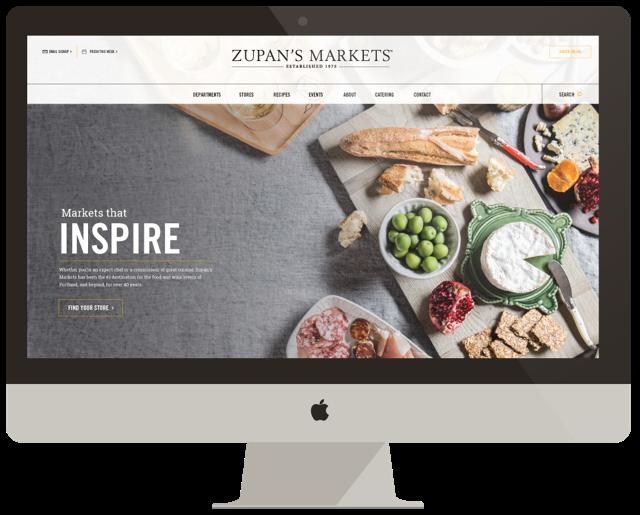 Zupans markets website design