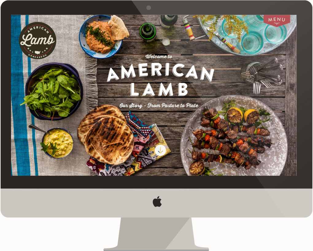 American Lamb website on a mac desktop
