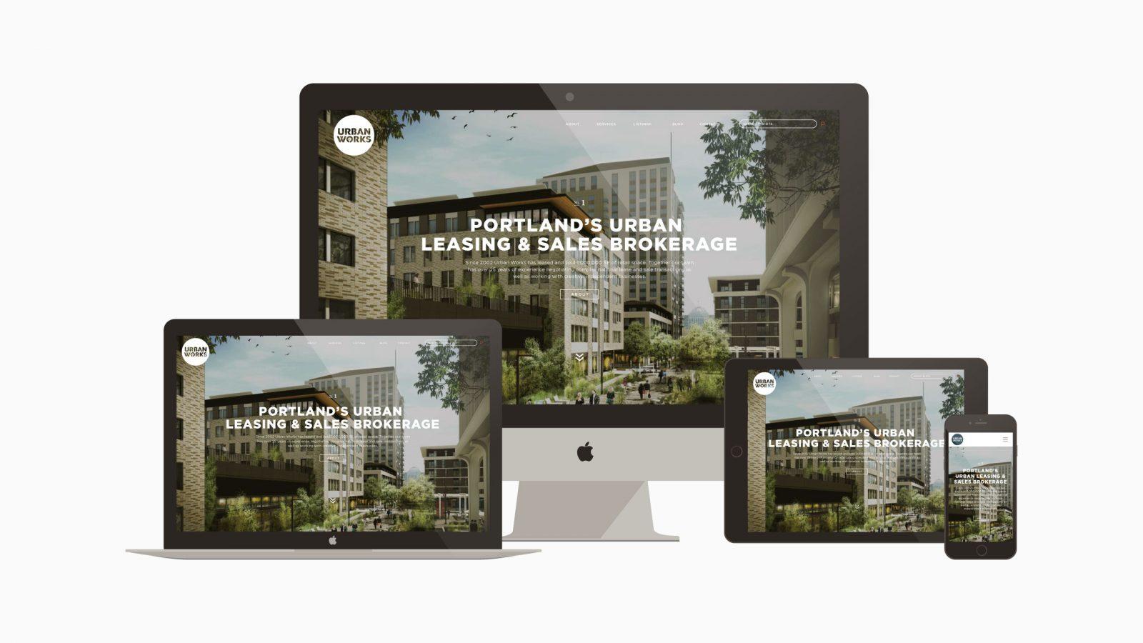 Urban Works Website Device Layout