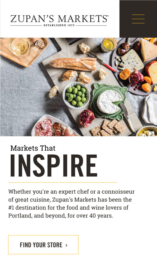 zupans markets mobile home page