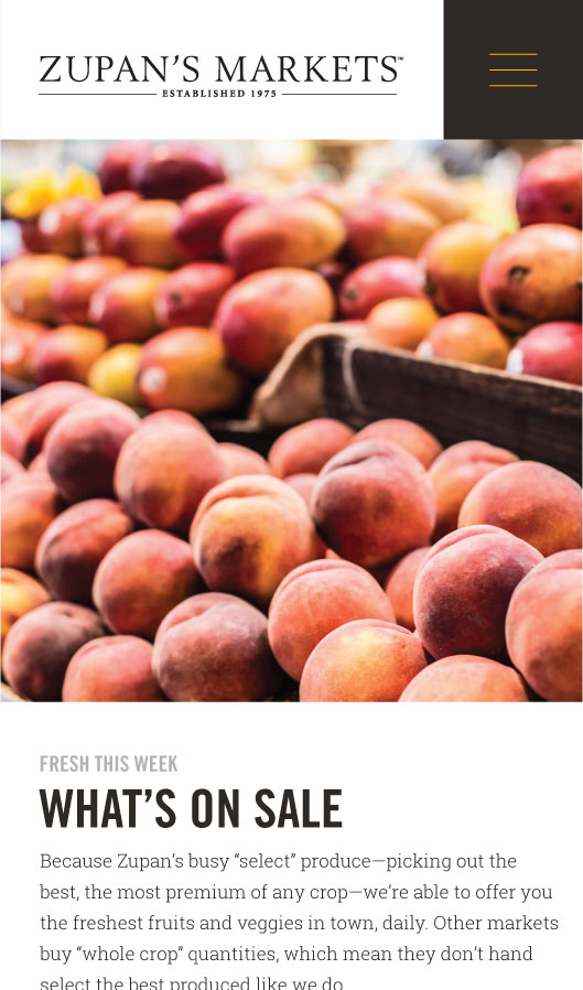 Zupan's markets whats fresh page