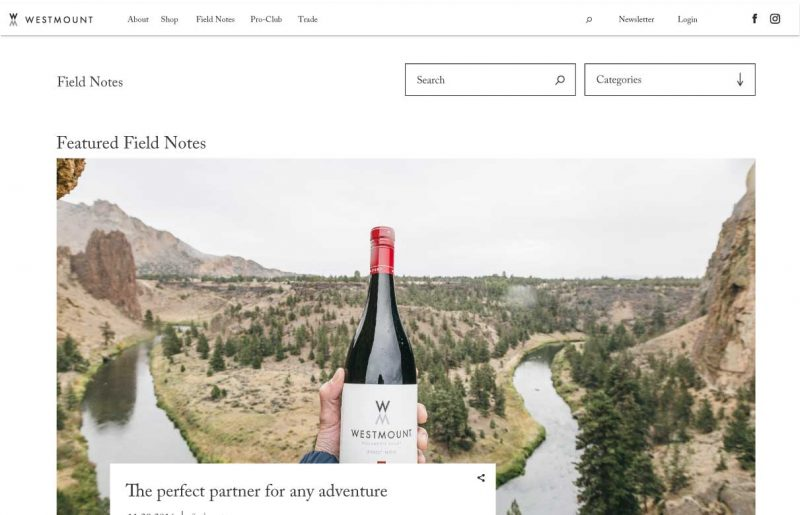 westmount-wine-website-design-field-notes-page-desktop