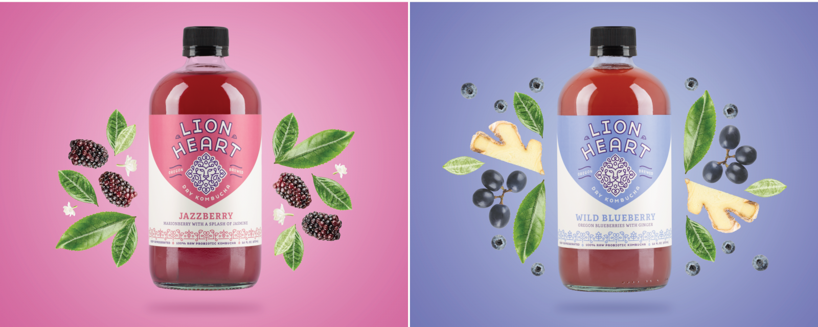 Lion Heart packaging jazzberry wild blueberry