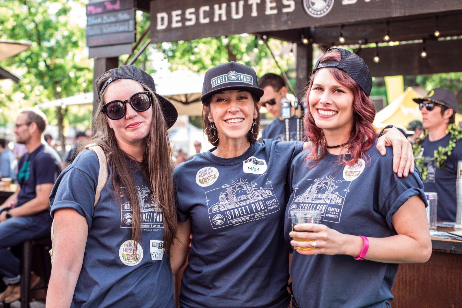 Street pub volunteer event