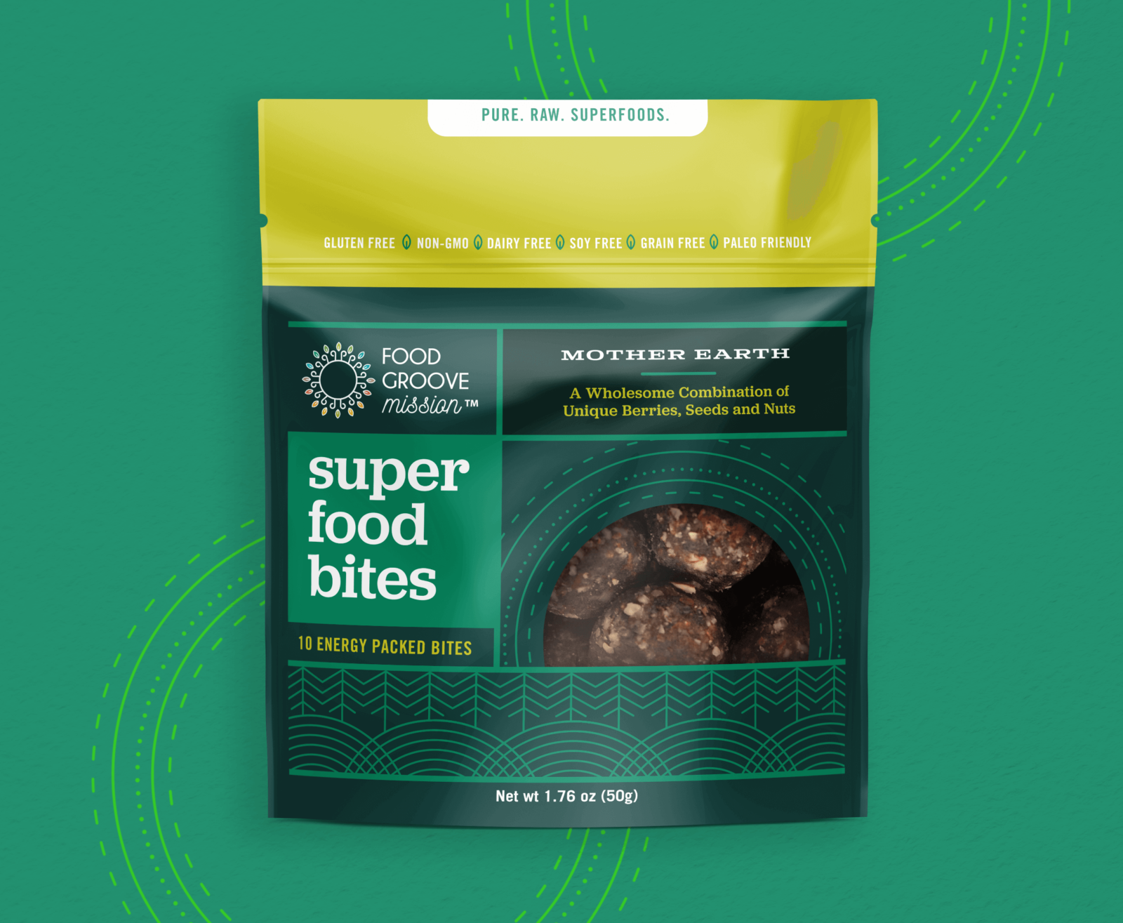 Food Groove Bites Packaging Green