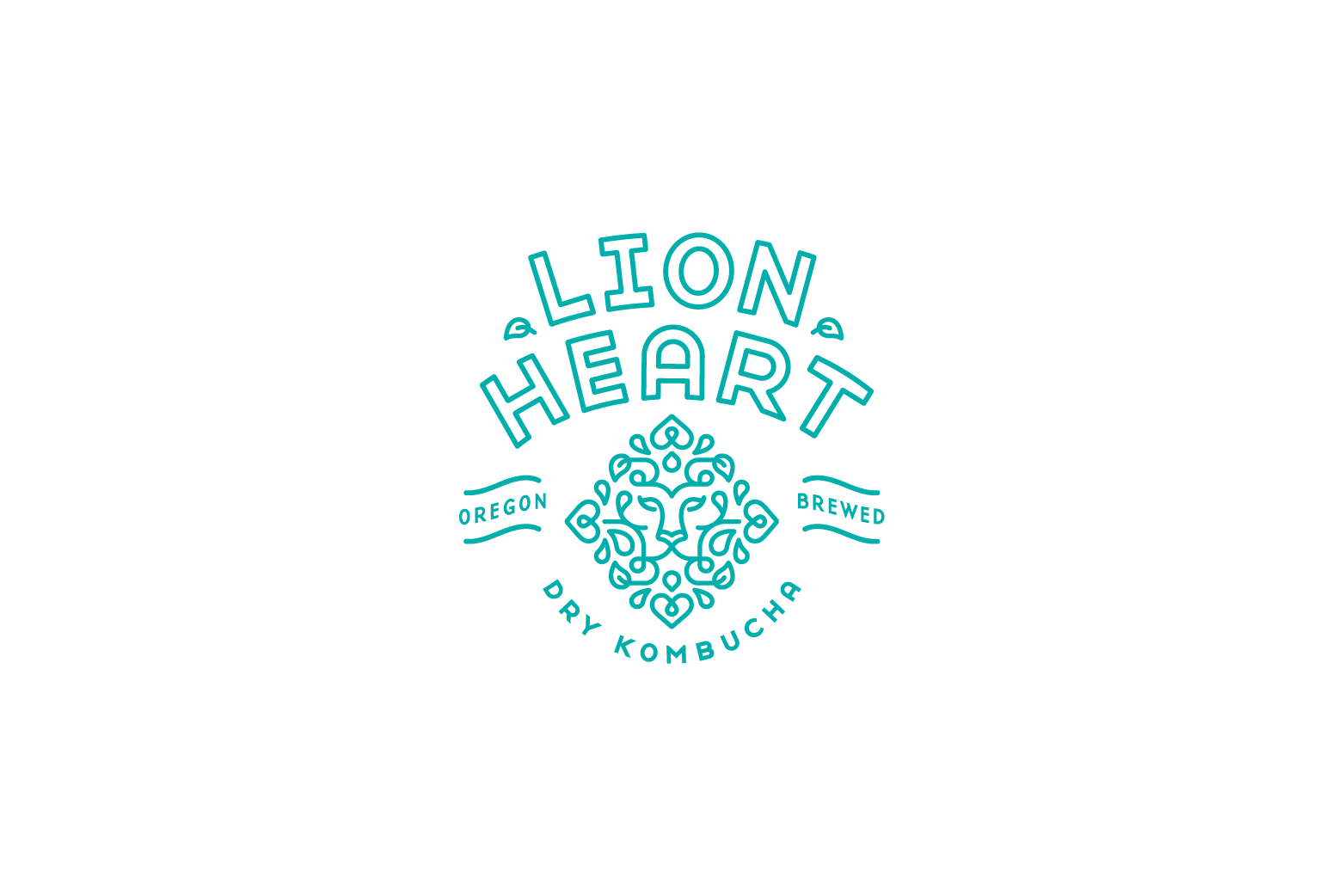 Lion Heart Kombucha Logo Design