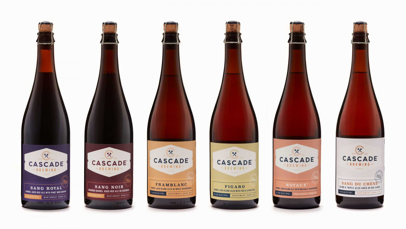 Cascade Sour Beer packaging design