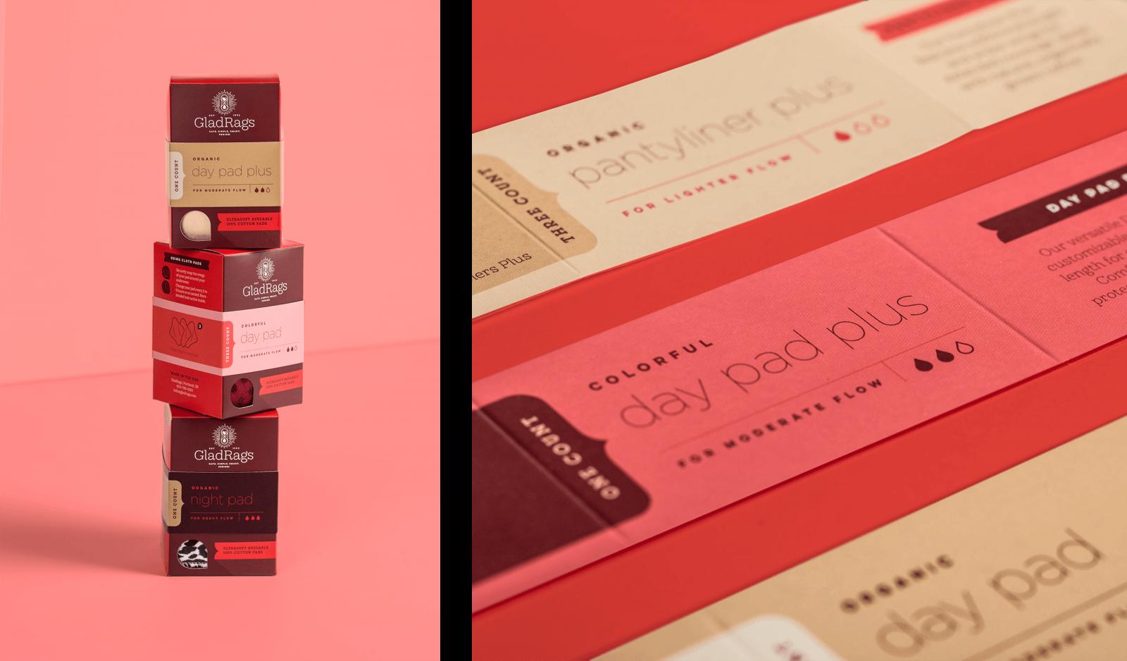 Glad Rags packaging design