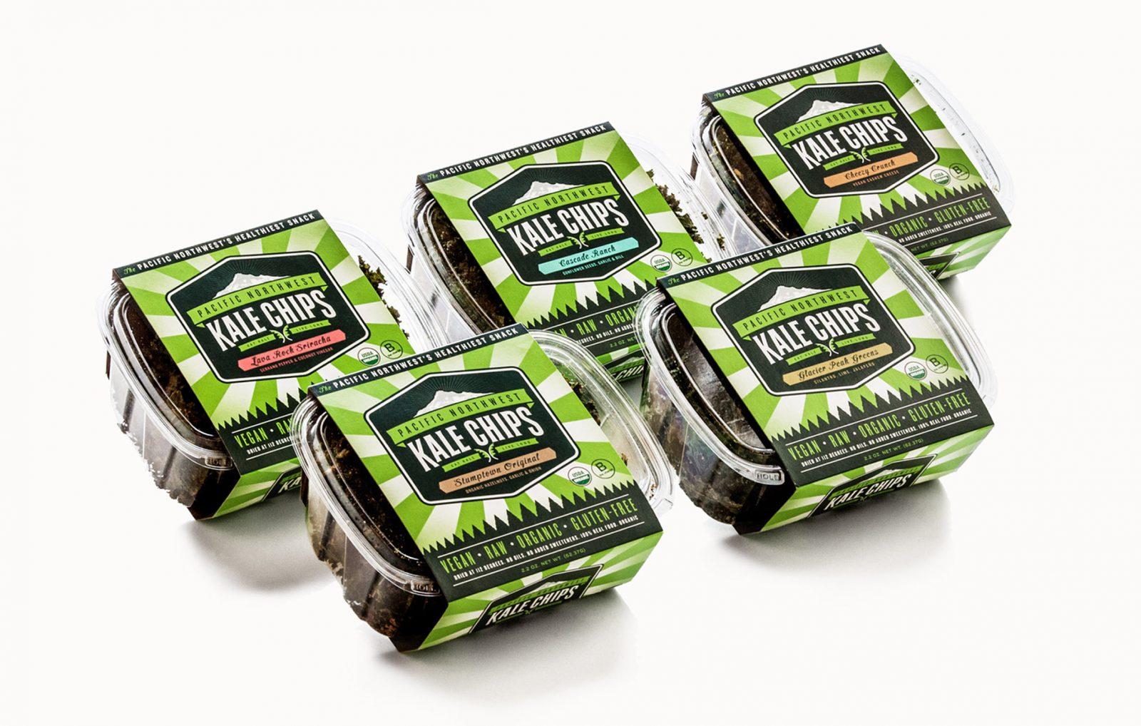 Kale Chips packaging design